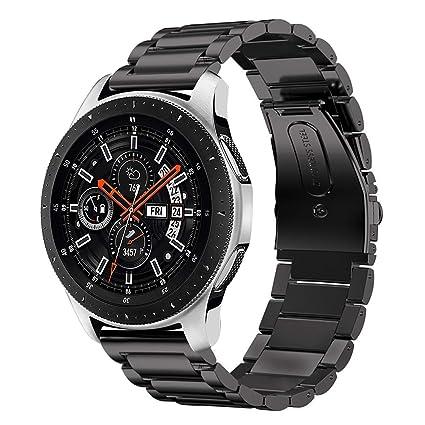 iBazal Gear S3 Bracelet Gear S3 Frontier/Classic Montre 22mm Band Acier Compatible Watch 46mm