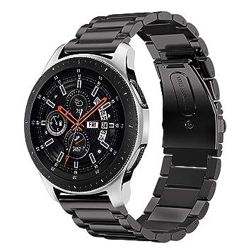iBazal Gear S3 Correa Acero, Gear S3 Frontier Classic Watch Correa 22mm Pulseras Bandas Metal Compatible con Samsung Galaxy 46mm,Huawei GT/2 ...