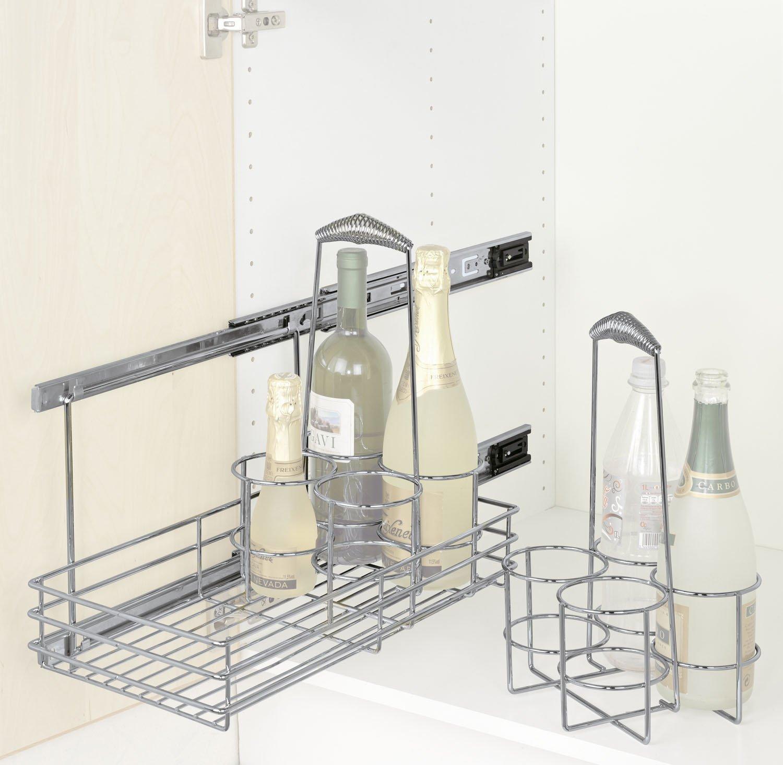 WENKO 5940100 Schrankauszug Bottle - ausziehbare Flaschenablage ...