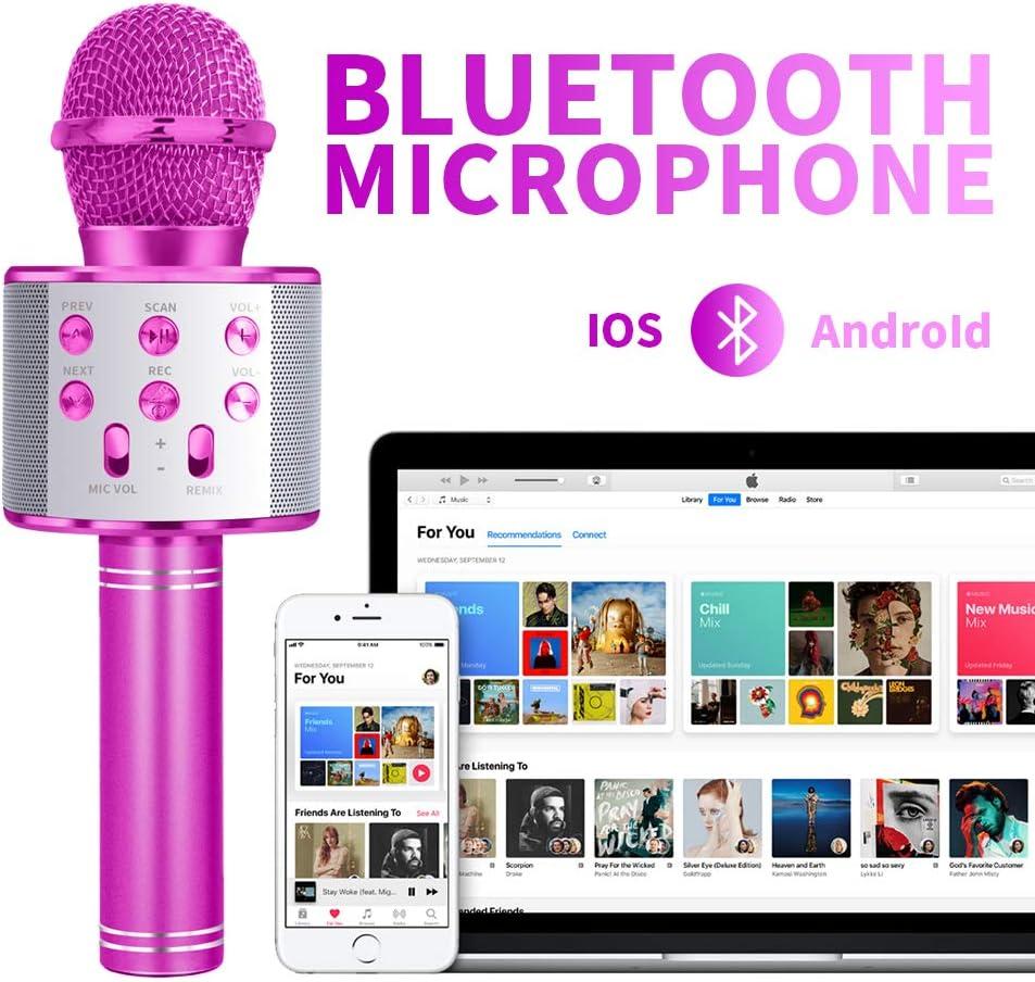 LITTLEFUN Wireless Bluetooth Karaoke Microphone Speaker Machine Home Party Birthday Gift Great Gift