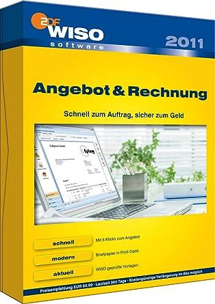Wiso Angebot Und Rechnung 2011 Amazonde Software