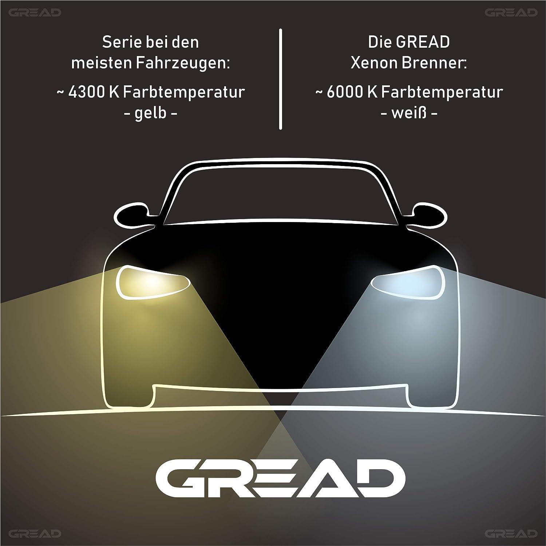 Gread 2 bombillas de xen/ón D2S de luces 6000 K 35 W 100/% ajuste y larga vida /útil.
