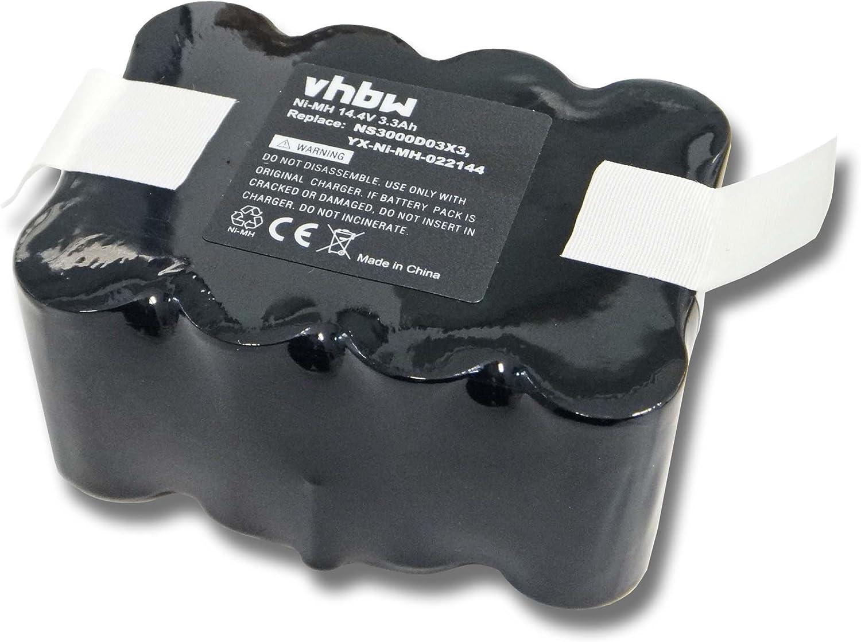 vhbw Batería NiMH 3300mAh (14.4V) para robot aspirador Home ...