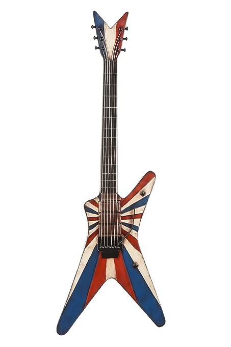 Premier Housewares Electric Guitar Wall Art, 91 x 31 cm - Metal ...