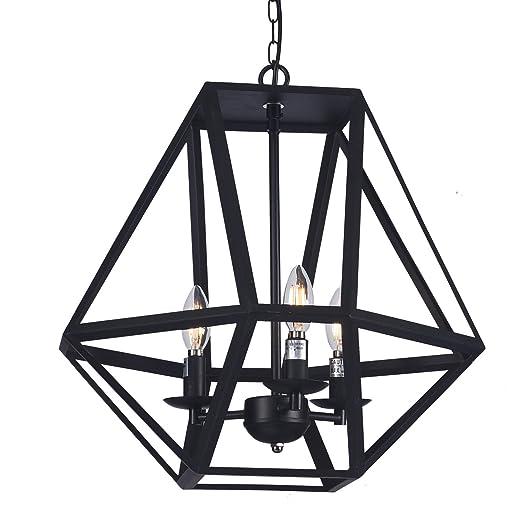 Amazon.com: Raekor - Lámpara de techo de 18 pulgadas, marco ...