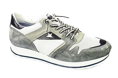 Cetti Herren Sneaker C 1132 Ante Gris Navy Bianco Gr. EUR 44 Grau/Grey Leder