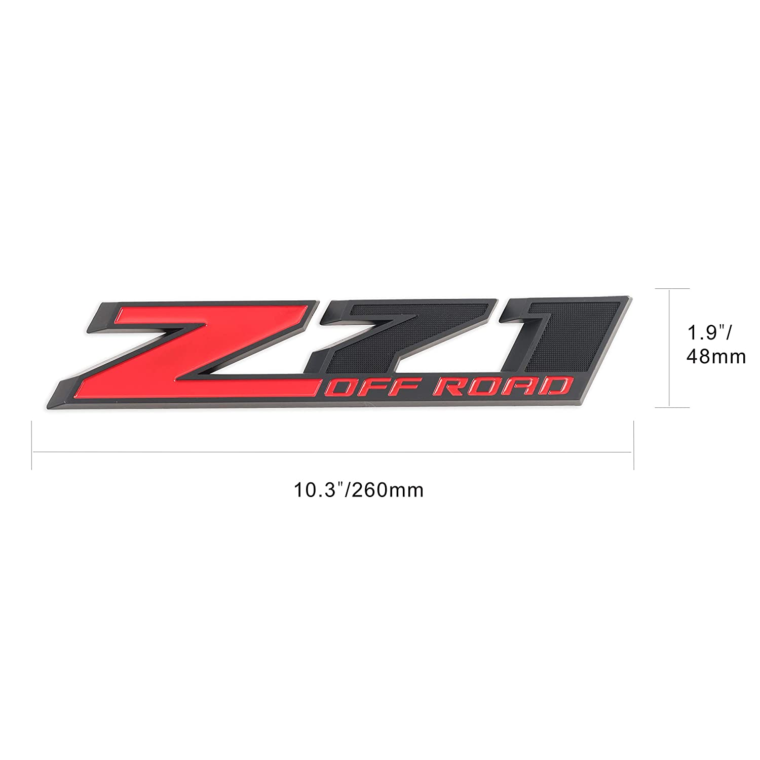 Amazon com 2pack z71 emblem z71 off road decal badge for chevy silverado colorado gmc sierra red matte black automotive