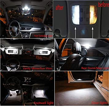 Festoon Rigid Loop - Bombillas LED para interior de coche (tamaño A4, S4,