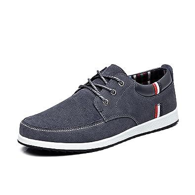 Esthesis Hombre Zapatos Casual de Cuero Mocasines Mocasines Zapatillas Náuticas: Amazon.es: Zapatos y complementos