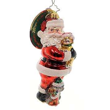 christopher radko christmas tail santa glass christmas ornament 2016 animal charity awareness ornament 5quot