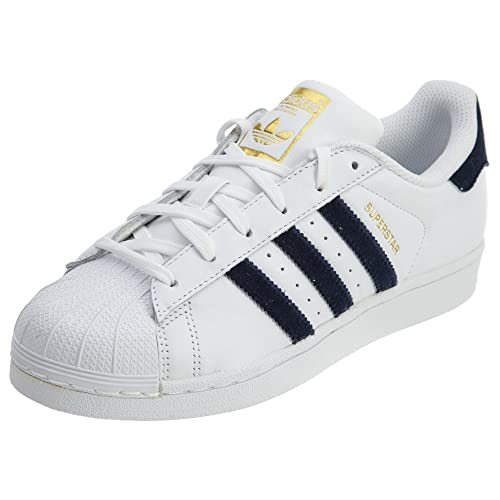 15fc2330506e adidas Originals AC7163   Womens Superstar Fashion Sneakers White Navy (10  B(M) US)  Amazon.co.uk  Shoes   Bags