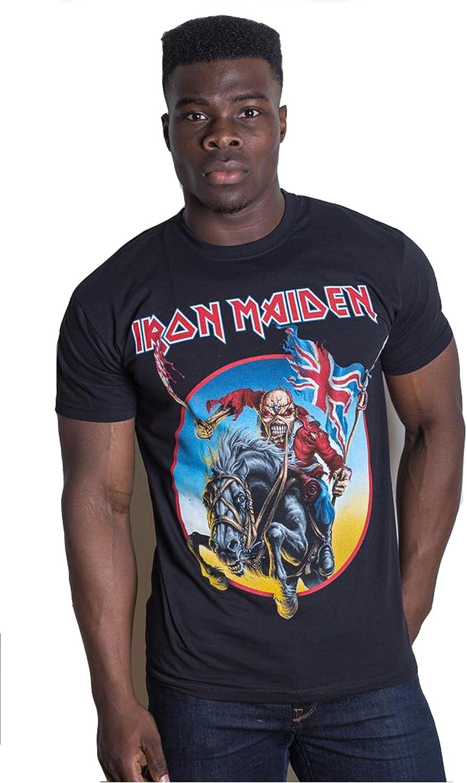 Tee Shack Iron Maiden European Tour Trooper Eddie Oficial Camiseta para Hombre (XX-Large): Amazon.es: Ropa y accesorios