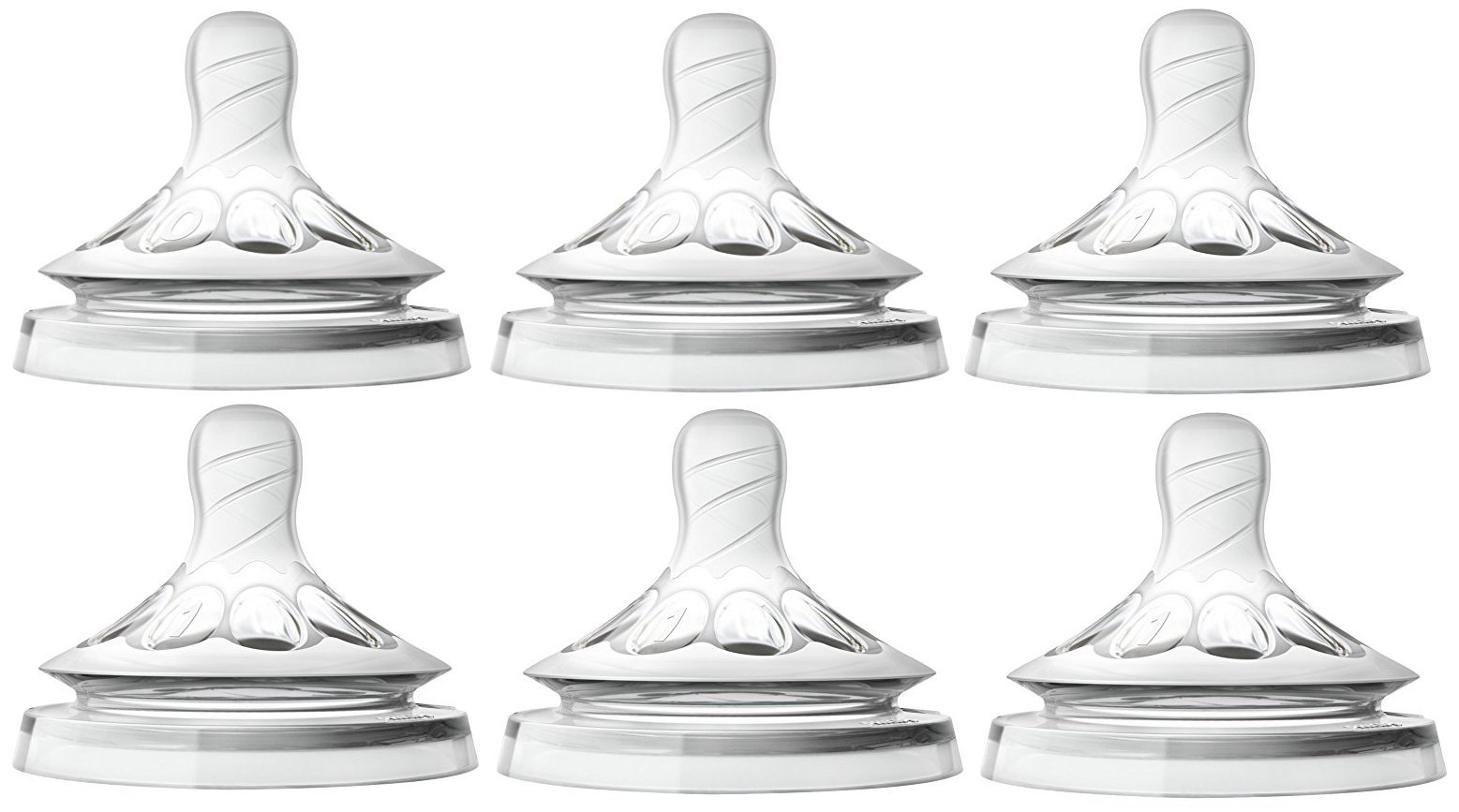 Philips Avent Natural Nipple First Flow + Newborn - 6 Pack