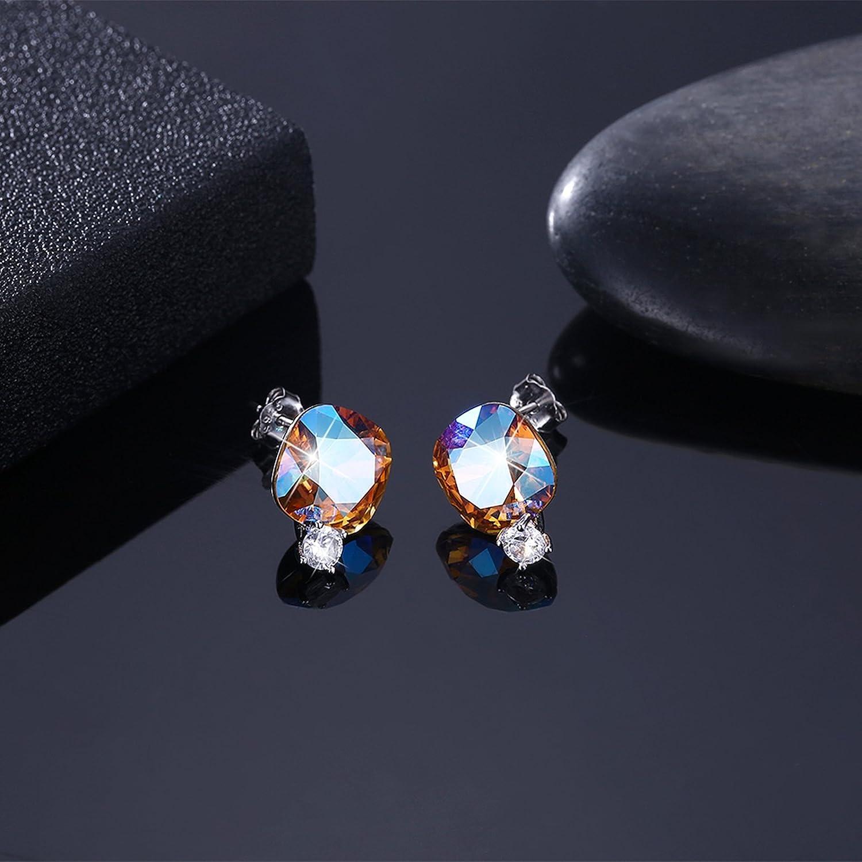 MoAndy Earrings Studs Cushion Cut AAA Cubic Zircon Inlaid Earrings Studs Women