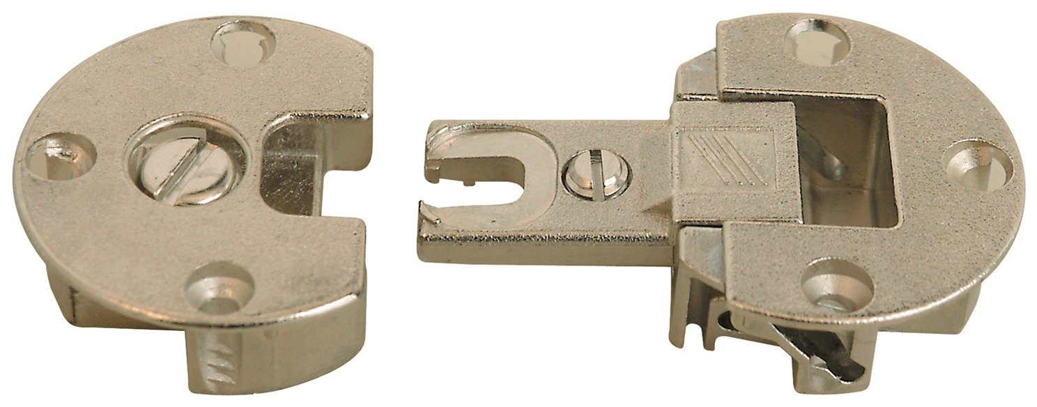 Nickel - Fully Adjustable Concealed Fall Flap Hinges