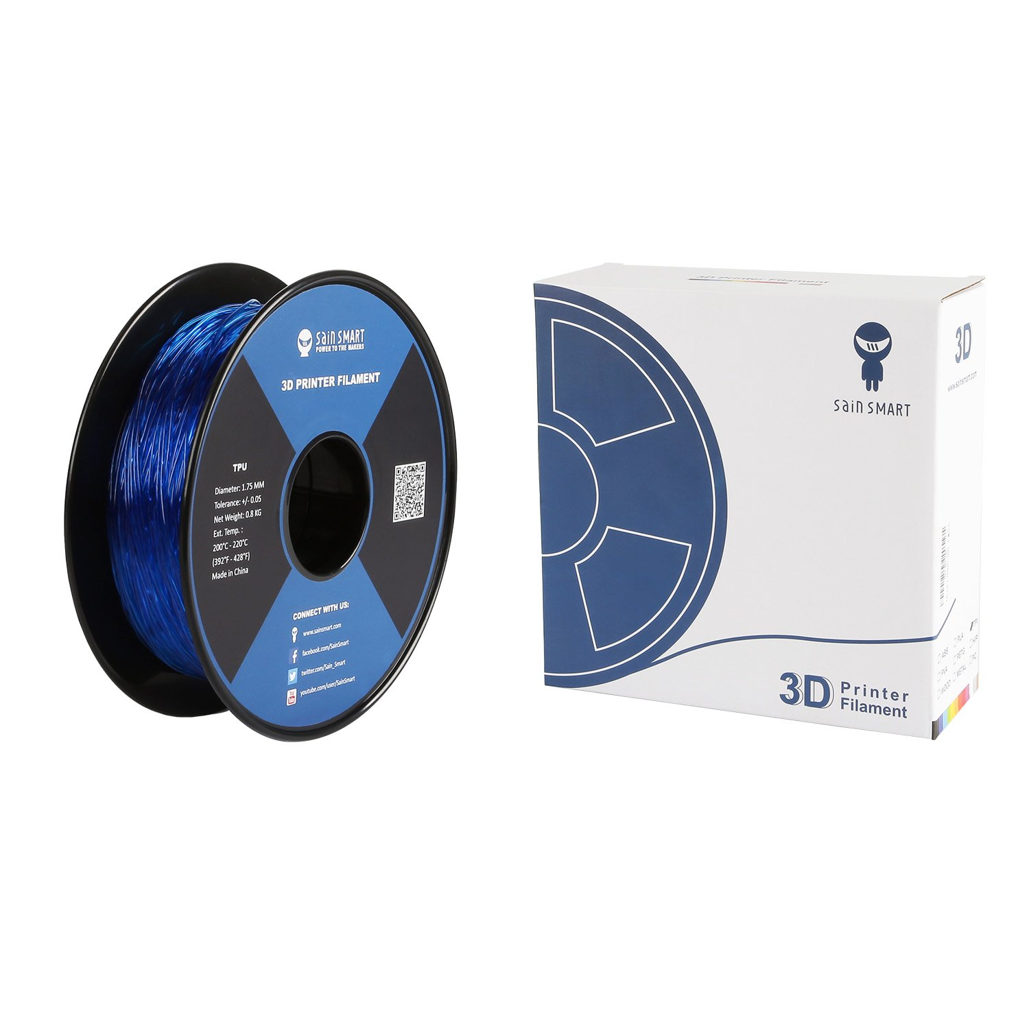 SainSmart 21-028-224 - 1.75 mm flexible de TPU Impresoras 3d ...