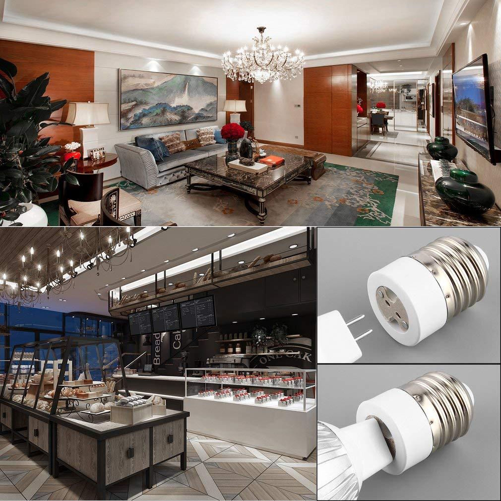 leoboone Easy to Install Safe to use E27 to MR16 Socket Light Bulb Lamp Holder Adapter Plug Extender Lampholder