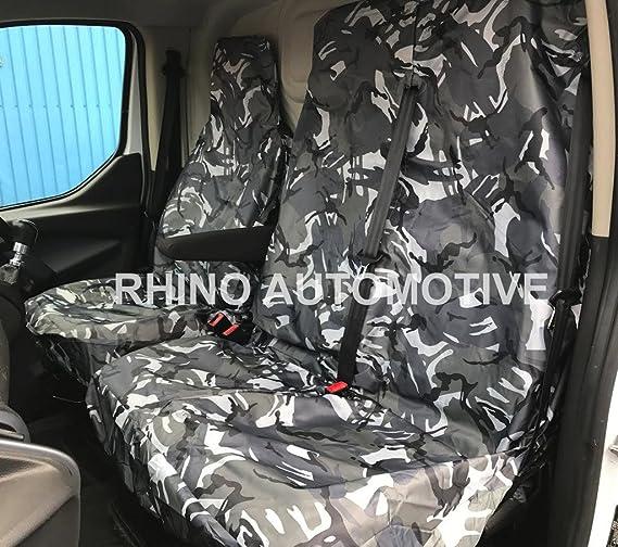 Rhino Automotive/© Heavy Duty Waterproof Van Seat Covers Grey Camo 2+1 RW0230