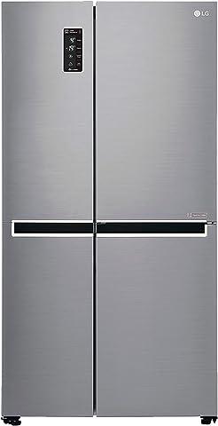 LG 687 L Frost Free Side by Side Refrigerator GC B247SLUV.APZQEBN, Platinum Silver, Inverter Compressor  Refrigerators