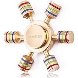 MAGQI ハンドスピナー Fidget Spinner Hand Spinner 指スピナー 人気の指遊び ボールベアリング ストレス解消 2分以上スピン ゴールド
