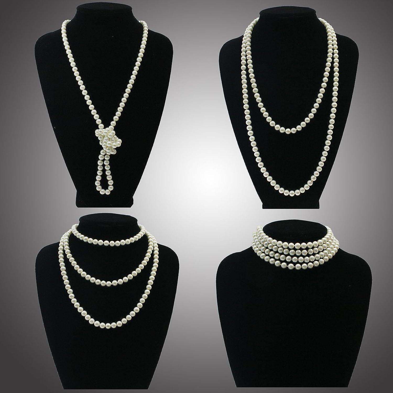 1920s Diadema Collar collar de perlas Accesorios de disfraces Flapper  Costume Set: Amazon.es: Ropa y accesorios