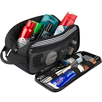 PurseN Mens Travel Toiletry Case Dopp Kit Bag Organizer
