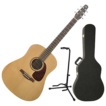 ea0a918cc13 Amazon.com: Seagull Coastline S6 Spruce Acoustic Guitar w/Hardshell Case  and Guitar Stand: Musical Instruments