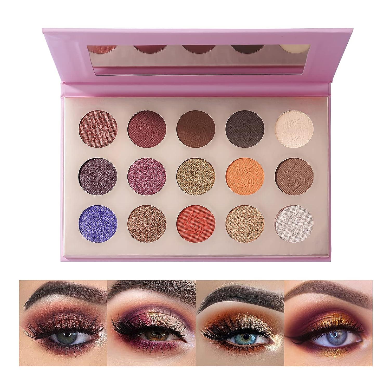 OKENTEN 15 Color Purple Eyeshadow Palette, Highly Pigmented Matte Glitter Shimmer Metallic, Halloween Makeup Pallete, Vegan Eye Shadow Powder Long Lasting(4)