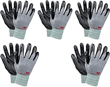 3M Comfort Grip Nitrile Foam Work Gloves, Super Grip 200, General Use / for Safety, Texting, Smartphone -5 Pairs- (Large): Amazon.es: Bricolaje y herramientas