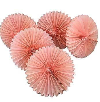 Amazon Uniquemystyle 5pcs 8 Tissue Paper Fan Flowers Wedding