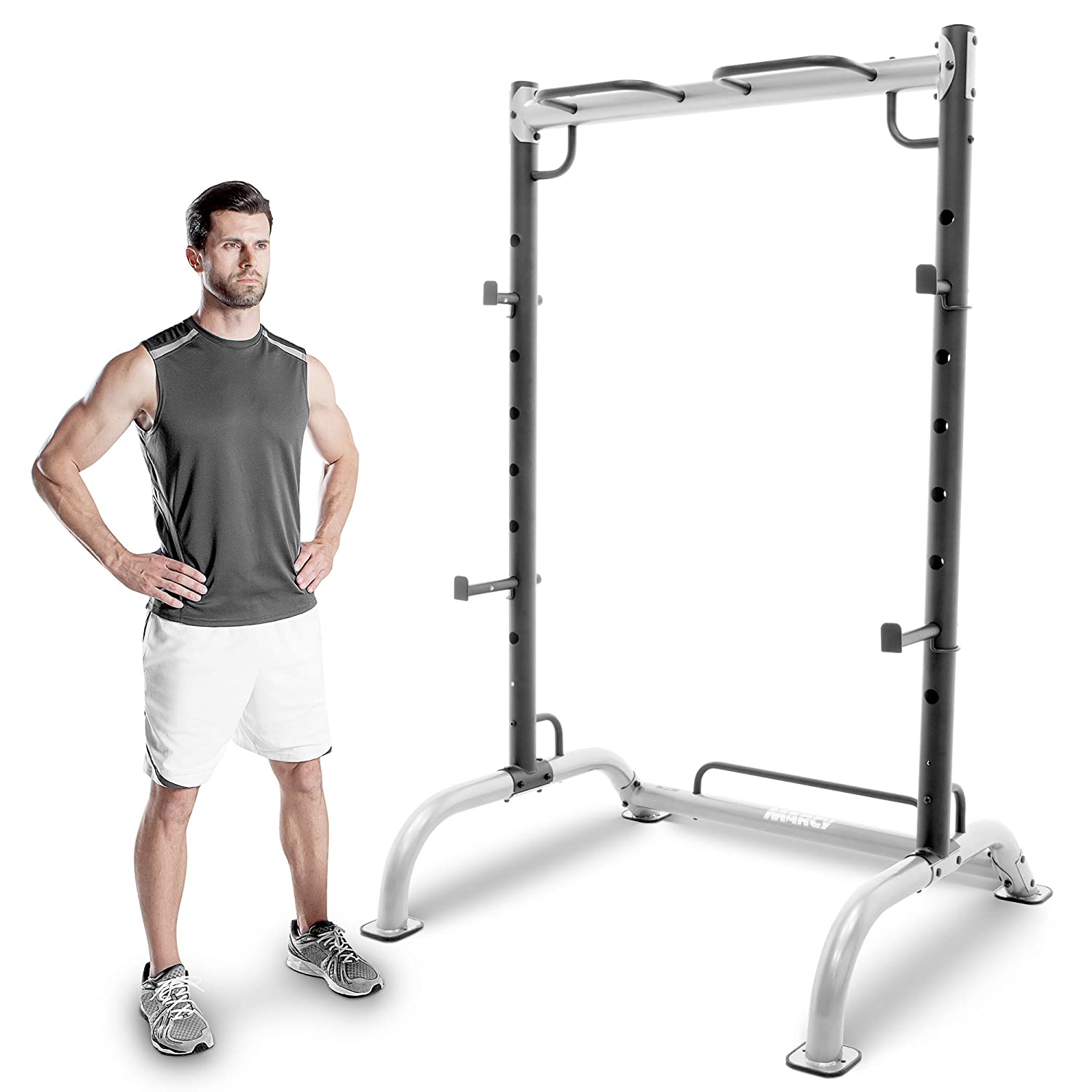 Marcy MWB-70500 Olympic Power Cage with Pull Up Bar - White/Silver, One Size Impex