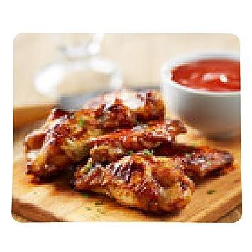 alfombrilla de ratón alitas de pollo con salsa de sriracha - rectangular - 23cm x 19