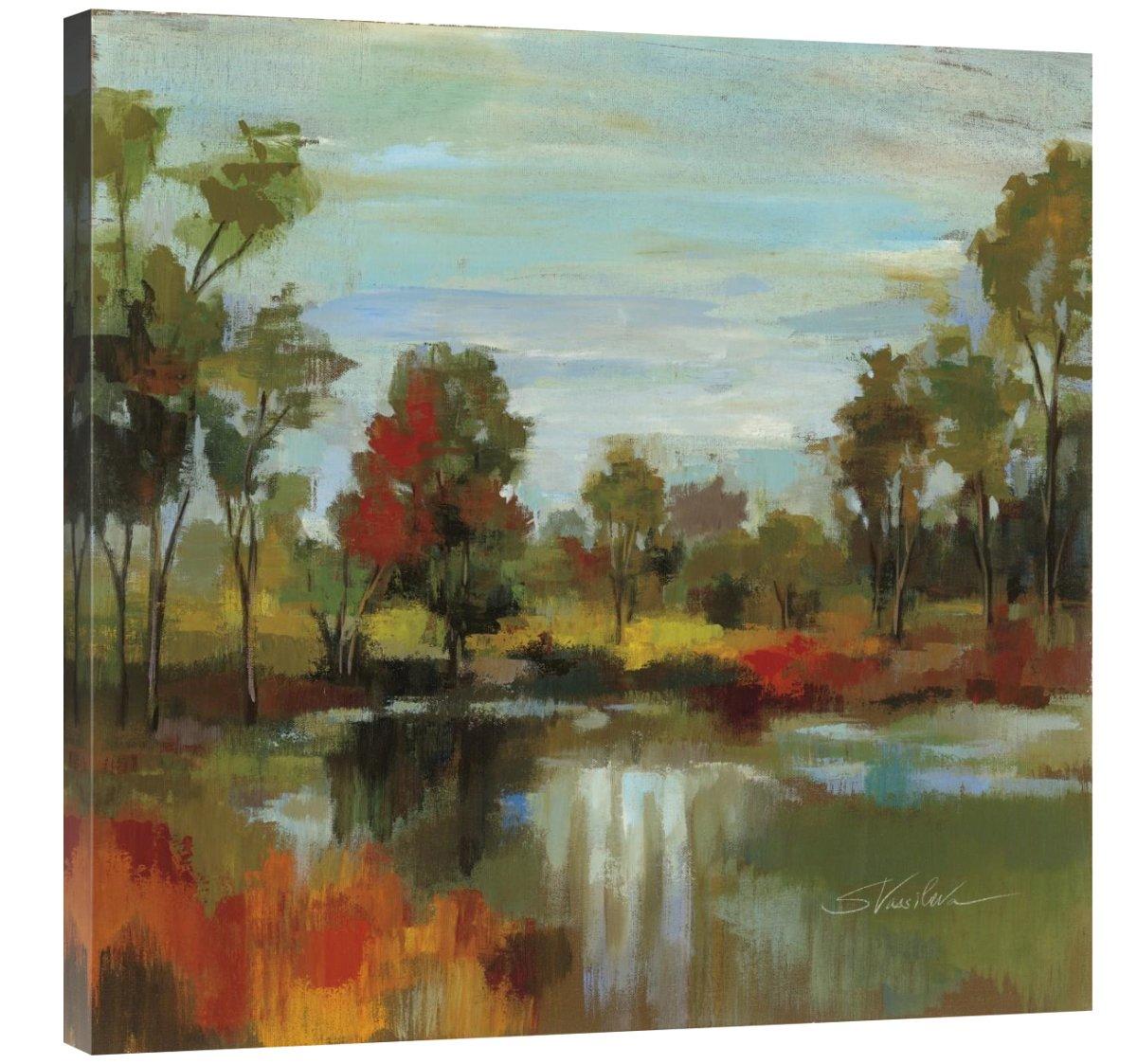 Global Gallery Silvia Vassileva, Hidden Pond Hues I' Giclee Stretched Canvas Artwork 30 x 30