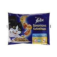 Purina Felix Sensations Gelatinas comida para gatos Selección Surtido de Pescados 4 x 100 g