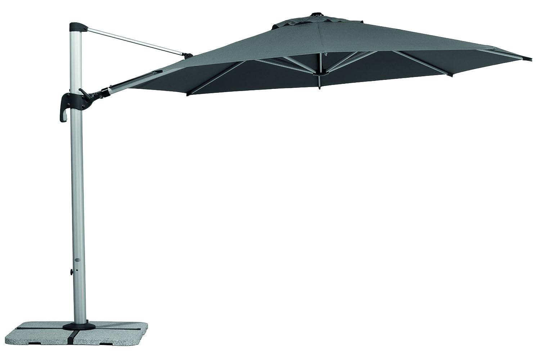 Schneider Sonnenschirm Barbados, anthrazit, 350x350 cm rund, Gestell Aluminium, Bespannung Polyester, 25.1 kg