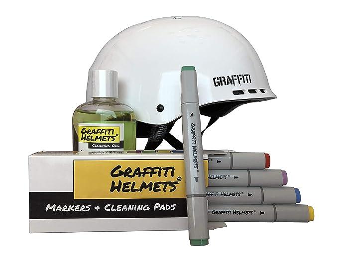 Amazon.com: Graffiti Cascos llamar su propia bicicleta casco ...
