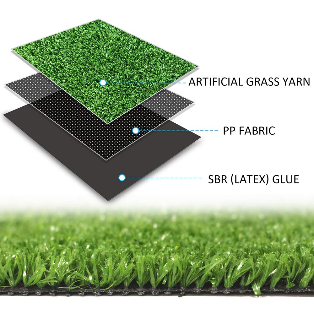 GL Artificial Grass Mat Round Shape, Realistic Synthetic Grass Indoor Outdoor Rug, Garden Lawn Landscape for Pets,Fake Faux Grass Rug with Drainage Holes, Diameter 4 FT