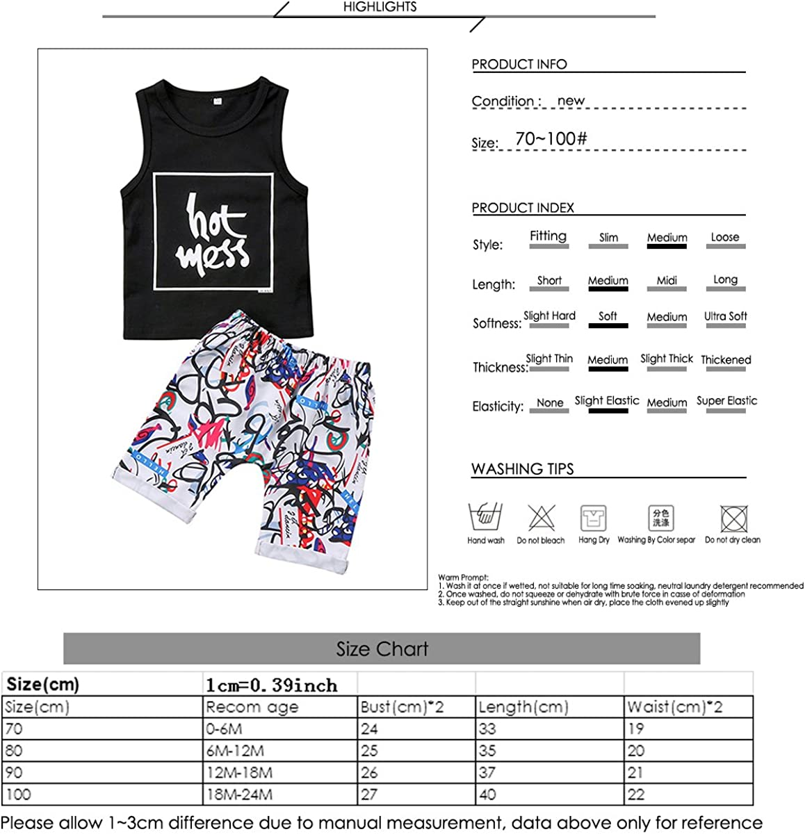 Shorts Boys Summer Outfits Set Infant Baby Boy Sleeveless Letters Vest Top