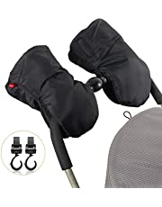 Guantes de Silla de Paseo – Uiter guantes para coches de bebés con 2 ganchos,