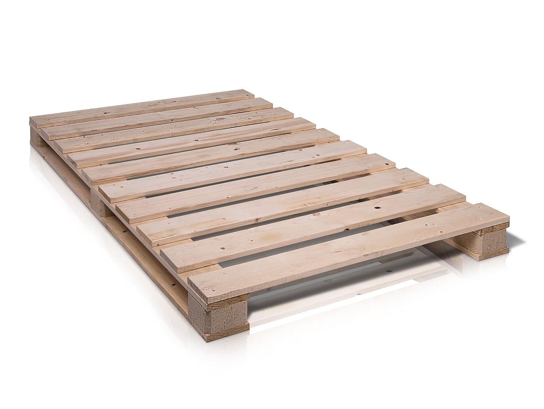 Paletti massivholzbett holzbett palettenbett bett aus paletten in ...