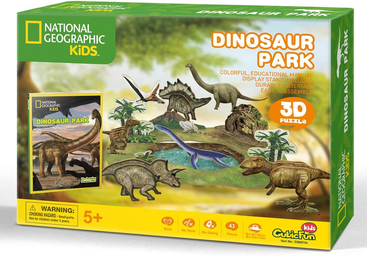 CubicFun National Geographic 3D Kids Puzzles Animal Model Kits Toys with Booklet for Children Teens and Adults African Wildlife