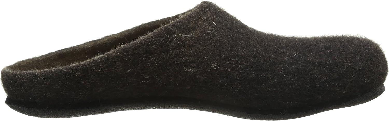 Damen und Herren Pantoffeln MagicFelt Hausschuh AN 709 aus Reiner Schurwolle rutschfest und anatomisch geformt