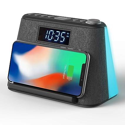 Amazon.com: Reloj despertador de mesita de noche con ...