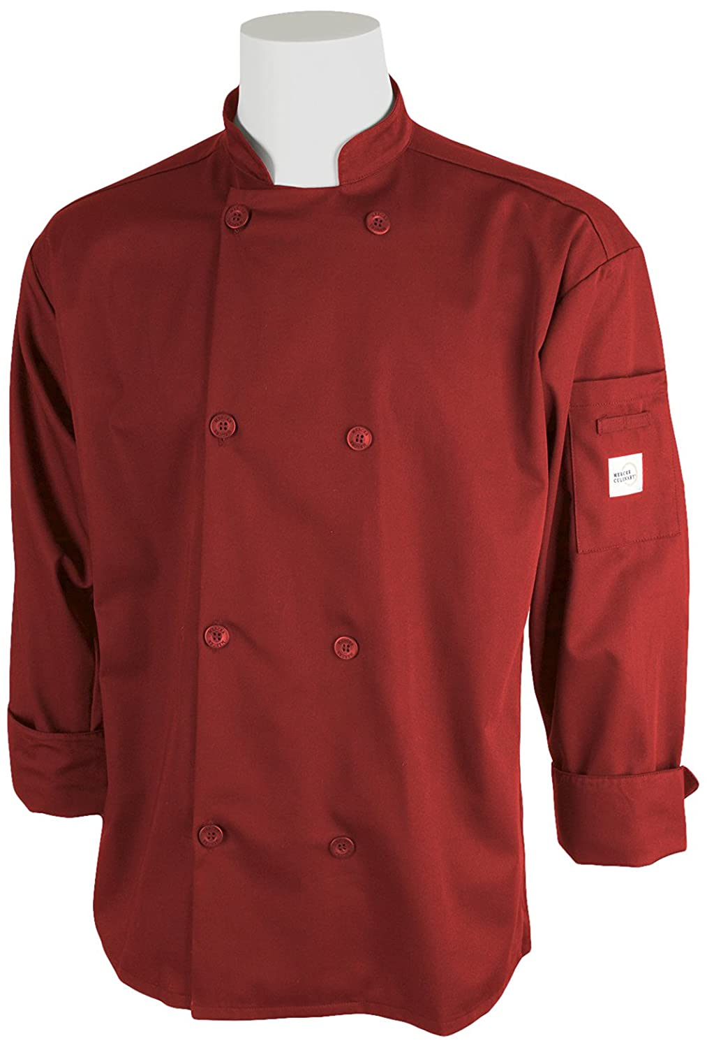 3X-Large Navy Blue Mercer Culinary M60010NB3X Millennia Unisex Cook Jacket with Traditional Buttons
