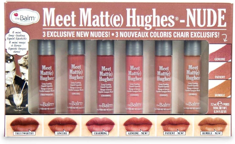 theBalm MEET MATTE HUGHES® NUDE Set of 6 Mini Long Lasting Liquid Lipsticks
