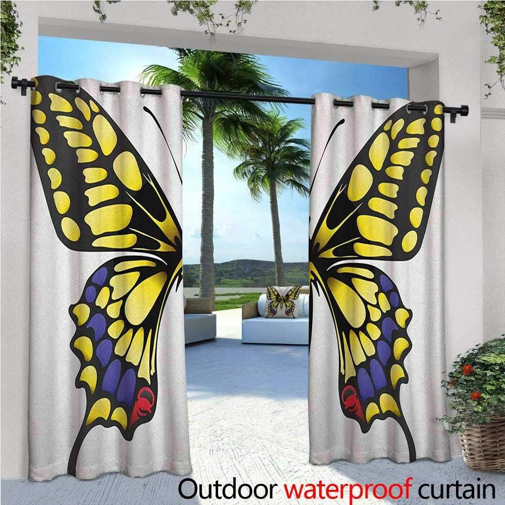 Cortinas de surf, para patios, patios, tablas de surf, ondas y estrellas de mar, cortina hawaiana de verano para exteriores, para patio, cortinas de patio al aire libre, color azul gasolina oscuro