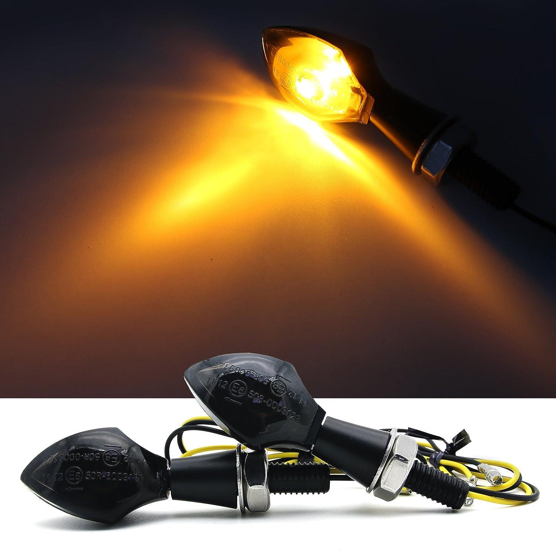2 piezas negro LED Turn Indicador de luz de señal Lámpara ...