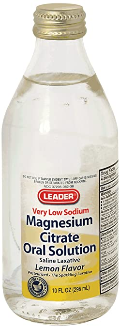 Leader Citrate of Magnesia Solution, 10 oz., Lemon