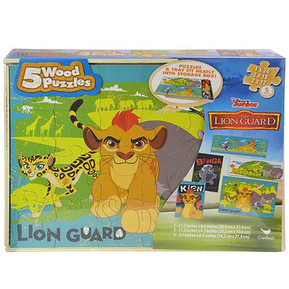 A la venta con descuento del 70%. Disney Lion Guard 5 Wood Puzzle Box Box Box by  selección larga