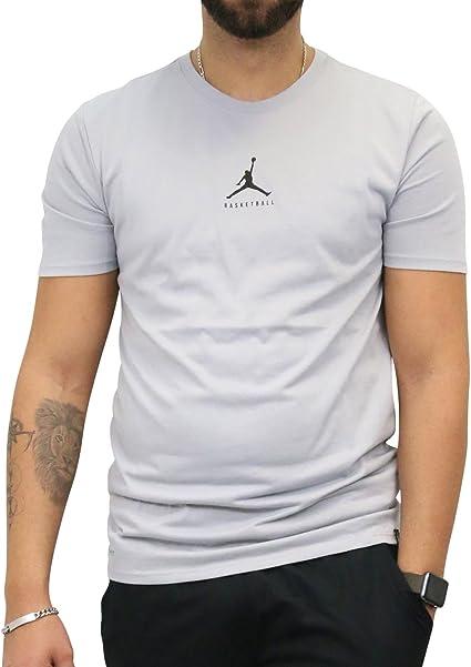 Nike Jordan Dry 23/7 Jumpman gris Algodón/poliéster – Camiseta, Grau (Wolf Grey/Black): Amazon.es: Deportes y aire libre